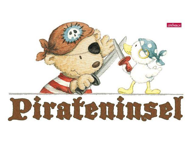 Wandtattoo Pitzelpatz und Schnaddeldatz auf Pirateninsel