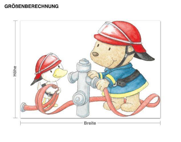Wandtattoo Pitzelpatz und Schnaddeldatz Feuerwehr