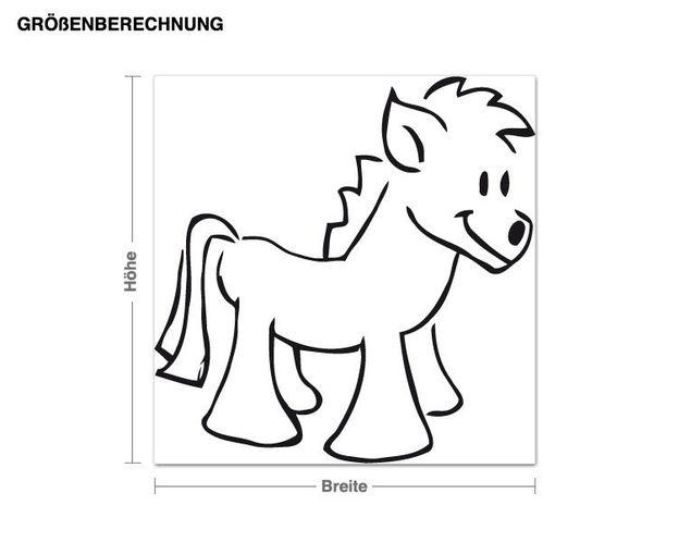 Wandtattoo Pony