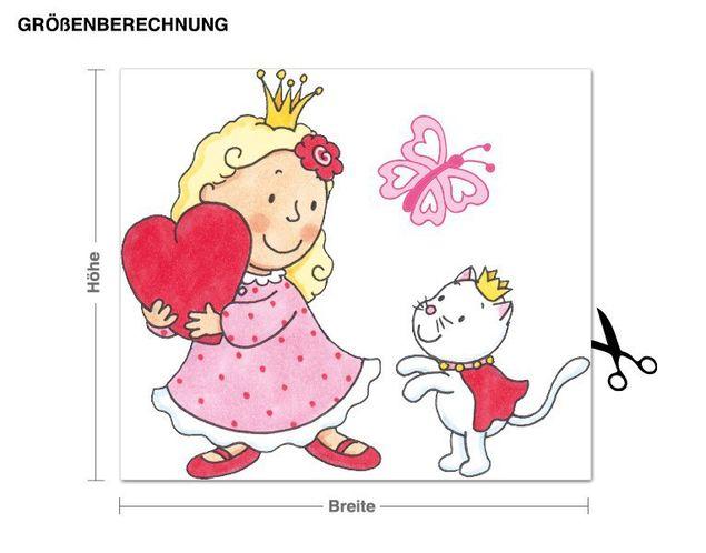 Wandtattoo Prinzessin mit Herz