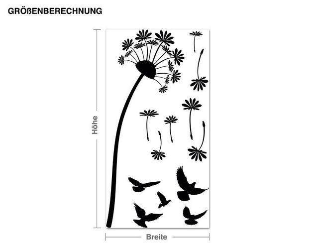 Wandtattoo Pusteblume mit Vögeln