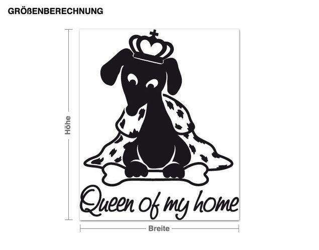 Wandtattoo Queen of my home