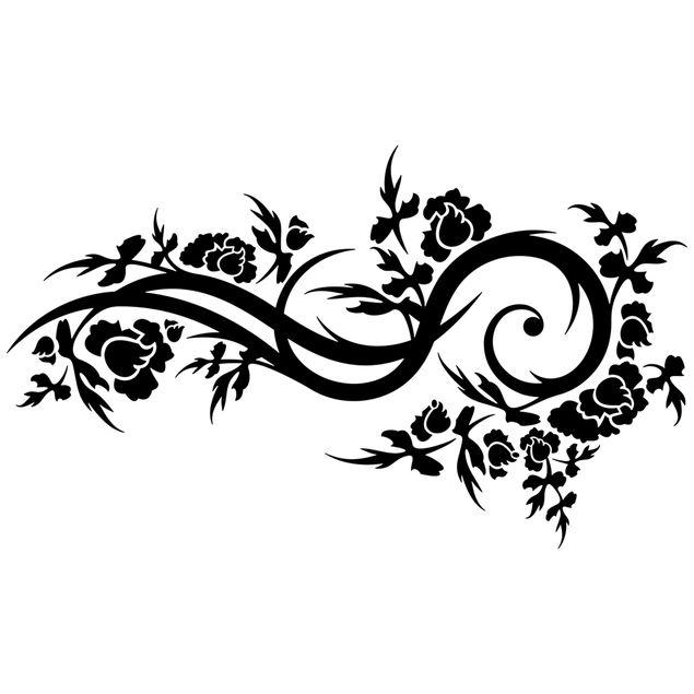 Wandtattoo Ranke Blütenwelle