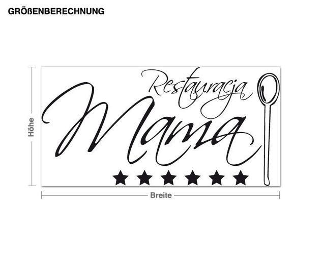 Wandtattoo Restauracja Mama