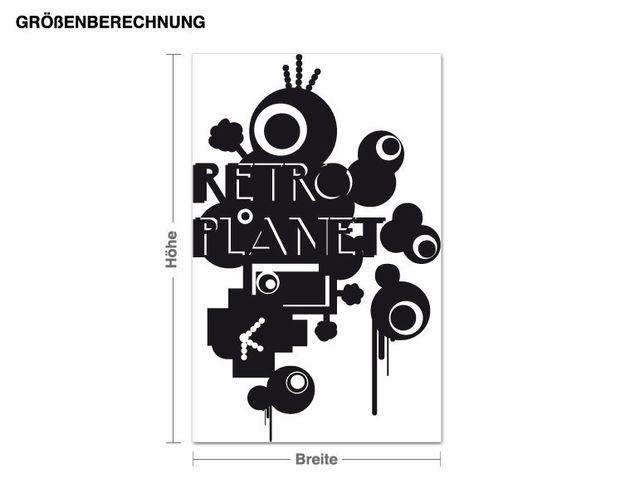 Wandtattoo Retro Planet