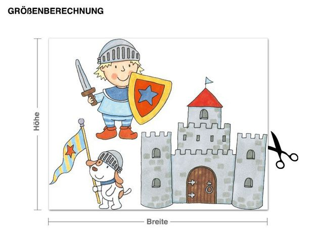 Wandtattoo Ritterburg