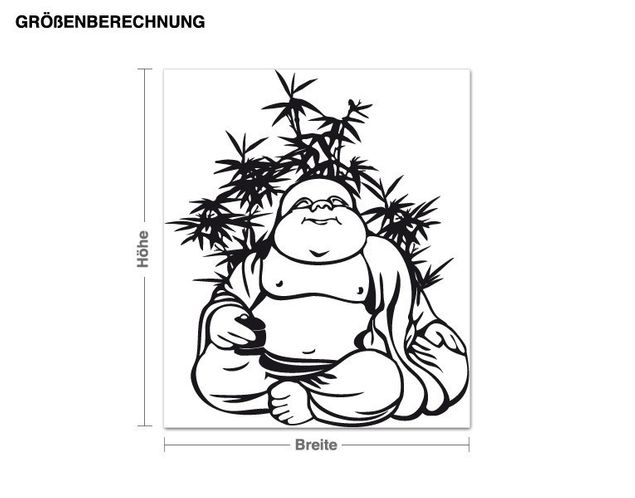 Wandtattoo Ruhender Buddha