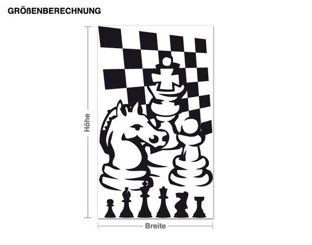 Wandtattoo Schachspiel