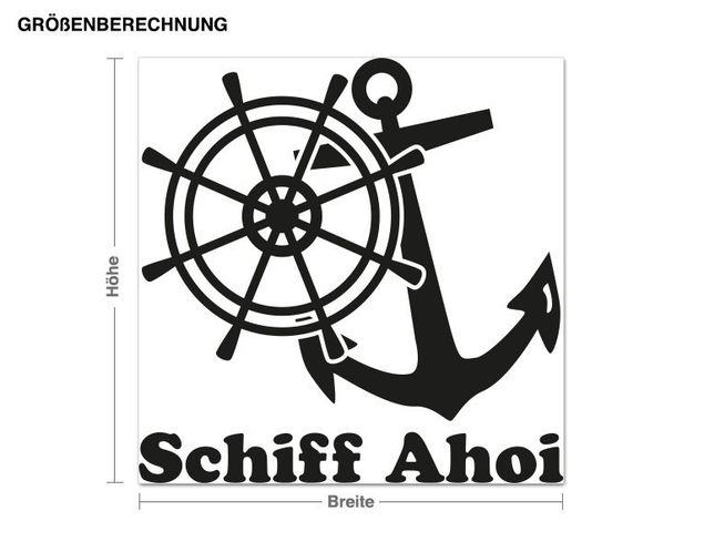 Wandtattoo Schiff Ahoi