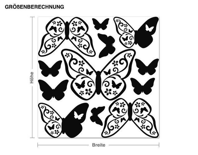 Wandtattoo Schmetterling Deko