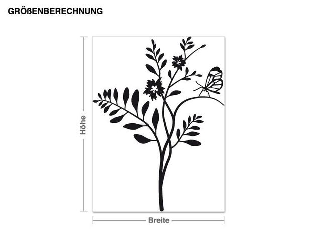 Wandtattoo Schmetterlingsbaum