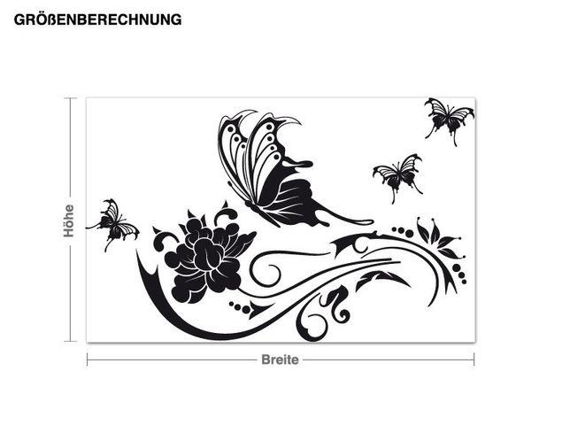 Wandtattoo Schmetterlingsranke
