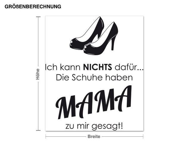 Wandtattoo Schuhe