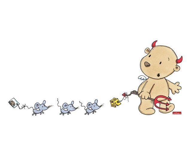 Wandtattoo Schutzengel mit Mäusen