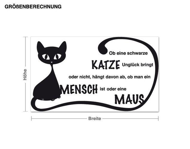 Wandtattoo Schwarze Katze