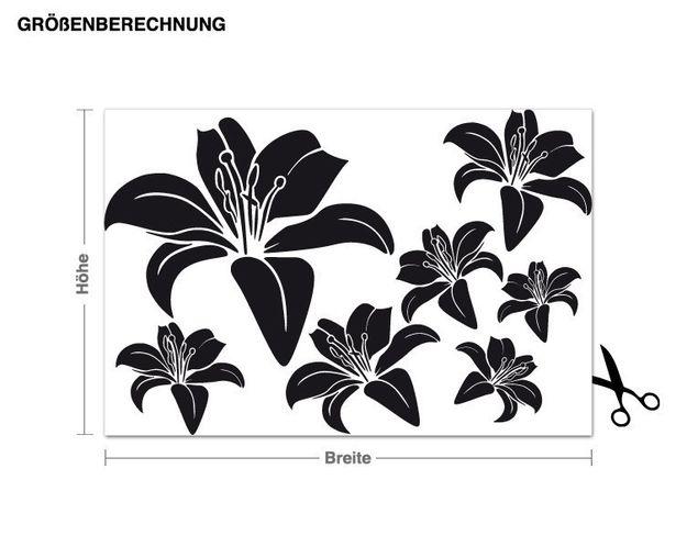 Wandtattoo Schwebende Blüten