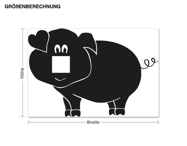 Wandtattoo Schwein