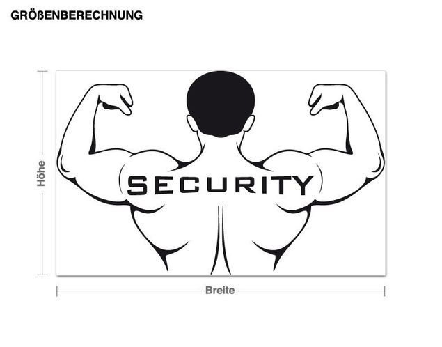Wandtattoo Security