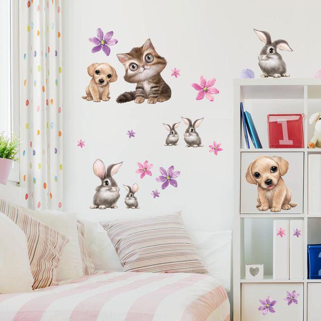 Wandtattoo - Set Haustiere