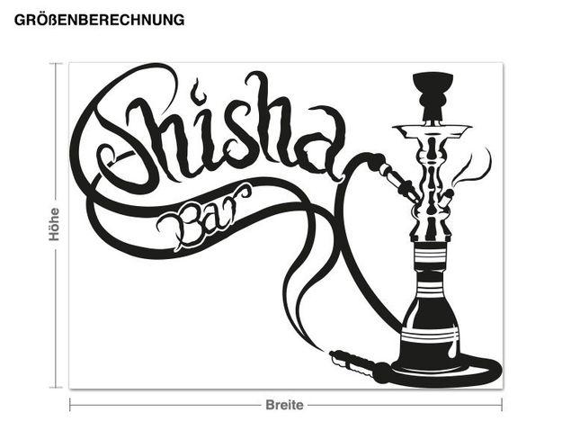 Wandtattoo Shisha-Bar