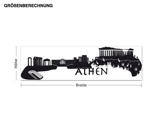 Wandtattoo Skyline Athen