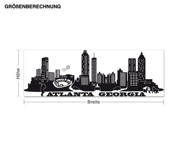 Wandtattoo Skyline Atlanta Georgia