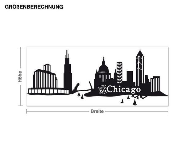 Wandtattoo Skyline Chicago