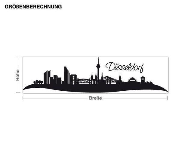 Wandtattoo Skyline Düsseldorf