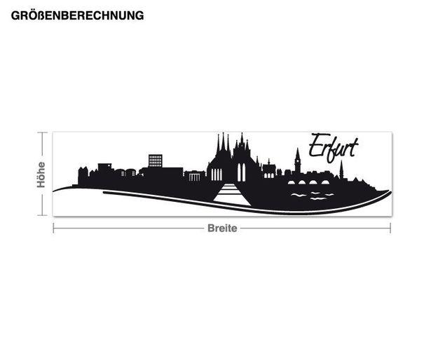 Wandtattoo Skyline Erfurt