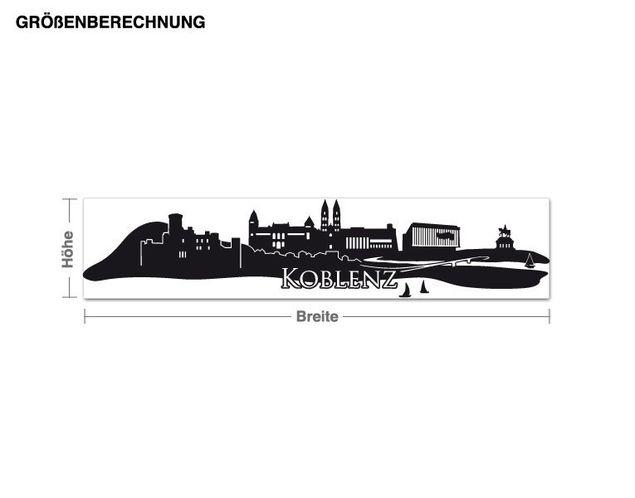 Wandtattoo Skyline Koblenz