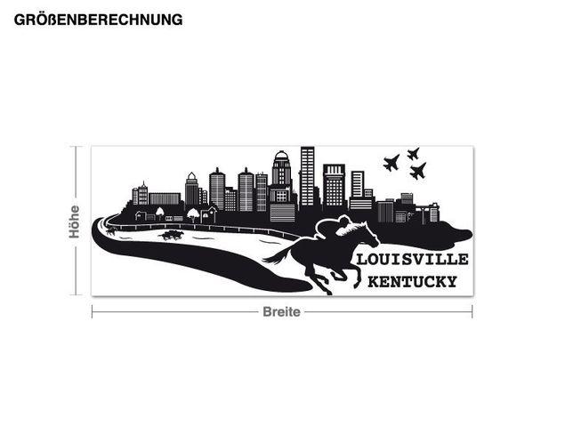 Wandtattoo Skyline Louisville Kentucky
