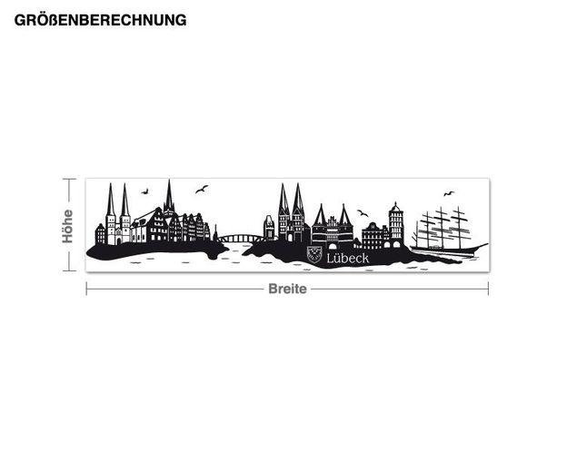 Wandtattoo Skyline Lübeck