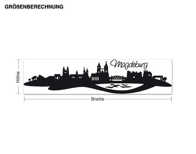 Wandtattoo Skyline Magdeburg