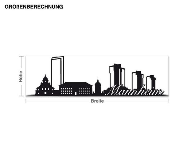 Wandtattoo Skyline Mannheim
