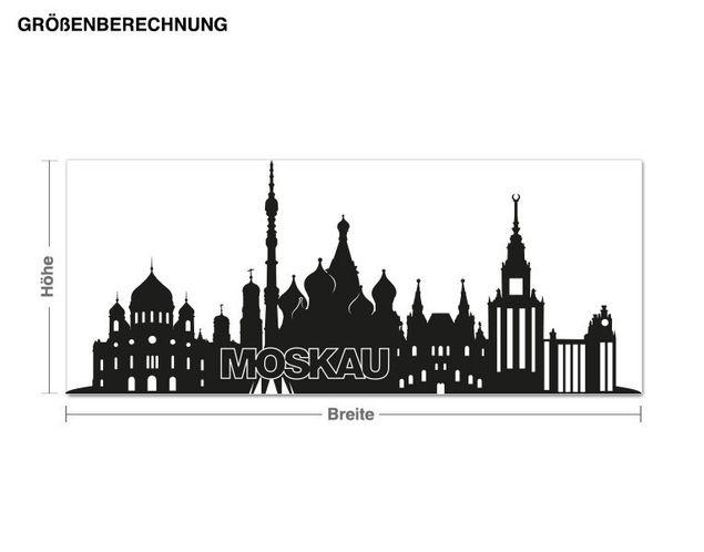 Wandtattoo Skyline Moskau