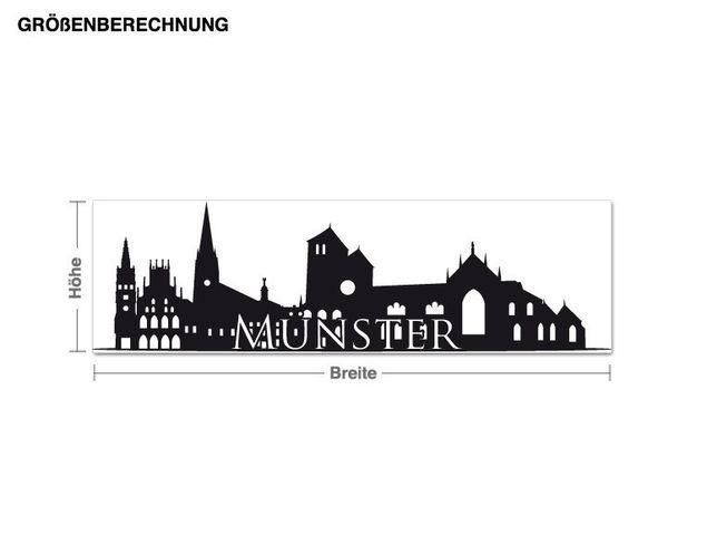 Wandtattoo Skyline Münster