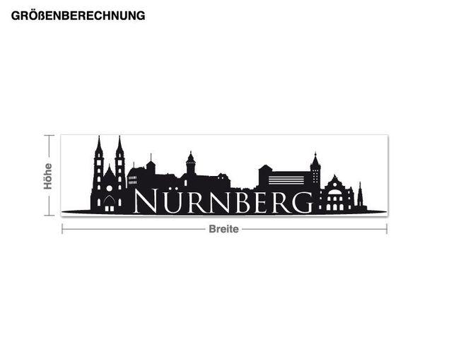 Wandtattoo Skyline Nürnberg