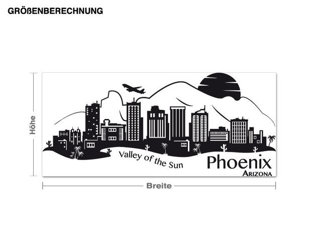 Wandtattoo Skyline Phoenix Arizona