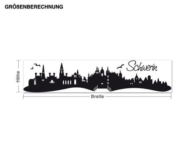 Wandtattoo Skyline Schwerin