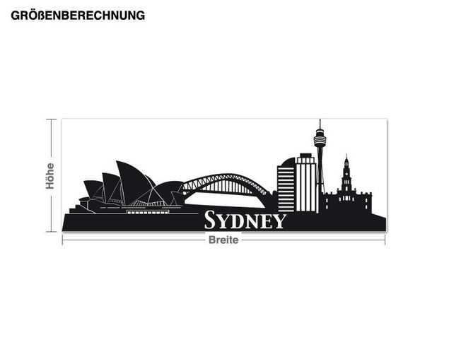 Wandtattoo Skyline Sydney