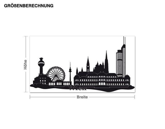 Wandtattoo Skyline Wien