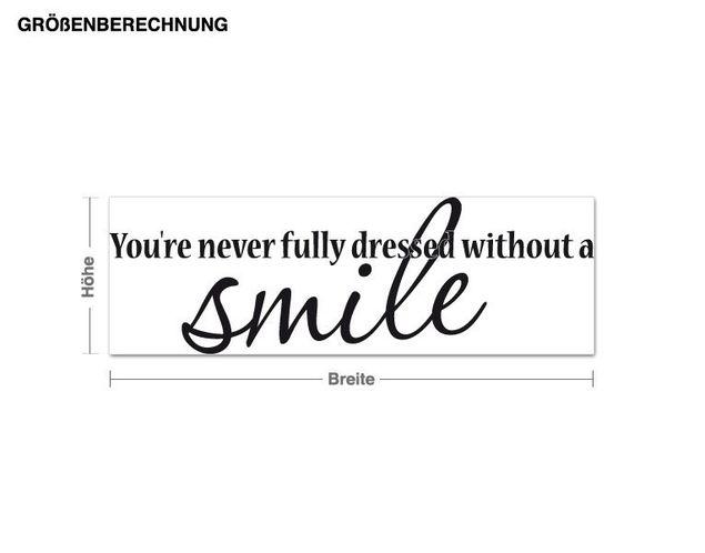 Wandtattoo Smile