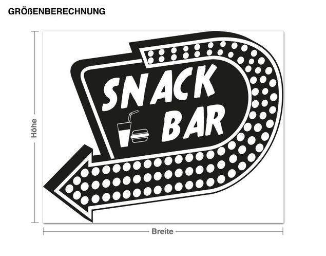 Wandtattoo Snackbar