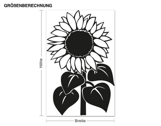 Wandtattoo Sonnenblume