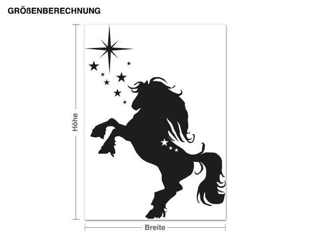 Wandtattoo Springendes Pferd