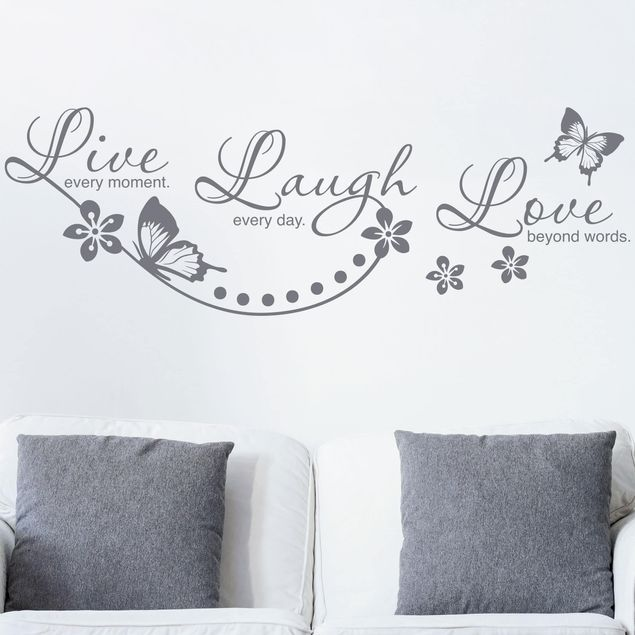 Wandtattoo Sprüche Live Laugh Love