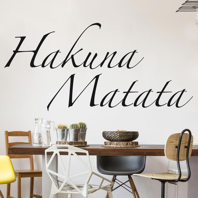 Wandtattoo Sprüche - Wandworte No.SF363 Hakuna Matata
