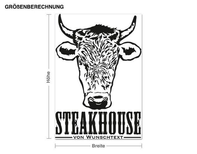 Wandtattoo Steakhouse