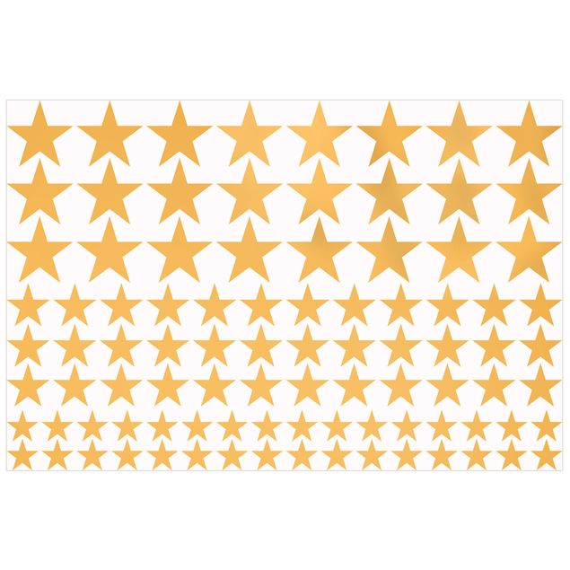 Wandtattoo 92 Sterne Set Gold
