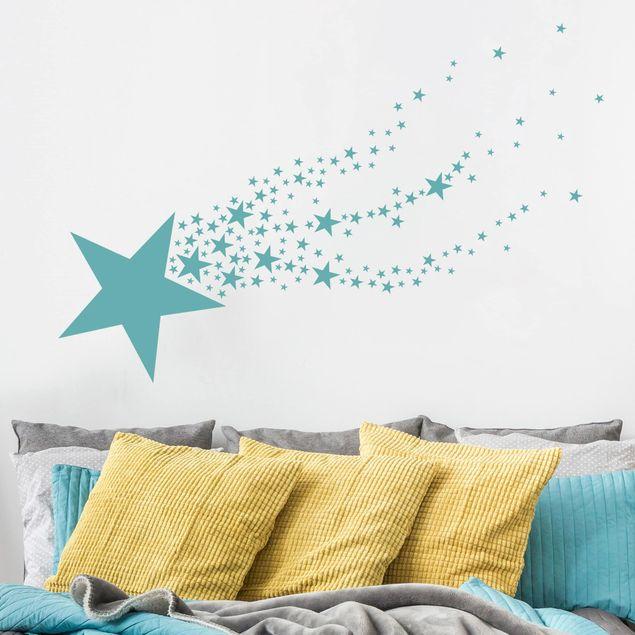 Wandtattoo - Sternschnuppe mit Sternen